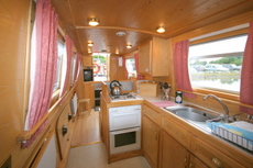 Kitchen on the ABC Class canal boat